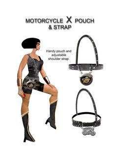 A completely Harley clutch bag.