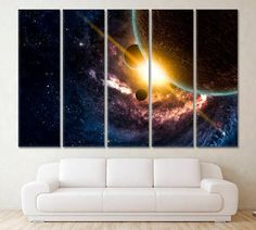 COSMIC NEBULA IN DEEP SPACE GALAXY BOX CANVAS PRINT WALL ART PICTURE PHOTO