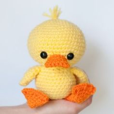 Adorable Duck amigurumi pattern by Theresas Crochet Shop