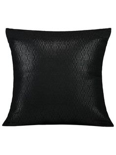 "Pillow Studio RUF Black Diva Size:  20"" x 20""  or  50 cm x 50 cm   LEATHERETTE PILLOW  Handmade in Morocco: pillows, throws and bedspreads"