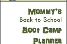 Free Back to School Boot Camp Planner, Printable Chore Charts, & Multiplication Worksheets