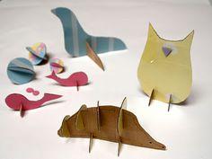 Cardboard animals http://www.pinterest.com/beccaburdette/art-reducereuserepurpose/ http://www.pinterest.com/kthomp12345/art-lessons/