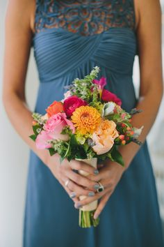Flowers & Decor, Real Weddings, Wedding Style, Bridesmaid Bouquets, Fall Weddings, Fall Real Weddings, Midwest Real Weddings, Shabby Chic Re...