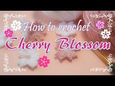 100均レース糸で編む・桜の花の作り方~How to crochet Cherry Blossom ~ - YouTube