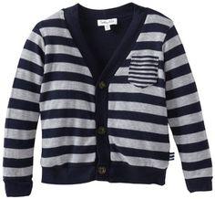 Splendid Littles Boys 2-7 Toddler Heather Grey Thermal Cardigan: Clothing