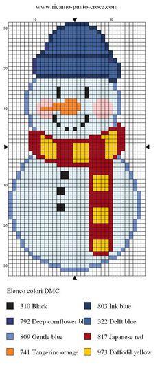 Snowman -- perler beads