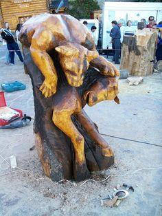 pima atacando, evento de escultores de semana santa, bariloche