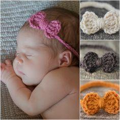 96fb7af0923 Headband Set - Newborn Headband Set - Baby Headband Set - Crochet Headband  Set - Ready to Ship Headband Set - Rustic Chic Baby Headbands RTS