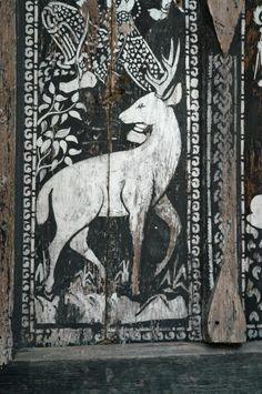 Painted door in the north