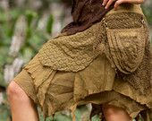 Plejaden Tasche Rock (Masala) - häkeln Boho Wrap-Around-Gypsy Tasche Rock Goa Fee Dschungel unkonventioneller Rock