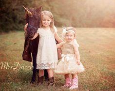SALE Girls Ivory Lace DressIvory Flower Girl by MrsDazzle on Etsy