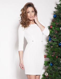 Főoldal - Art'z Modell Cold Shoulder Dress, White Dress, High Neck Dress, Dresses, Fashion, Turtleneck Dress, Vestidos, Moda, Fashion Styles