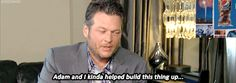 Blake talks about his and his boyfriend's Adam's baby, a.k.a. The Voice.