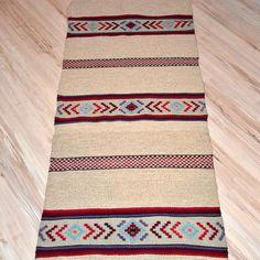 Handwoven wool ornamental rug, natural wool rug, handwoven boho rug, home decor rug, grey rug with colorful motifs, kilim rug