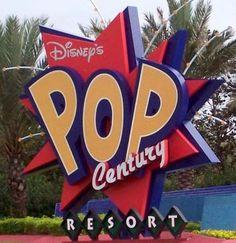 Pop Century Resort Sign @ Walt Disney World