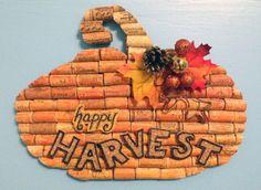 """""""Happy HARVEST"""" pumpkin wall hanging"""