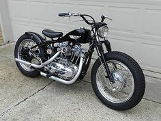 ironhead Sportster flat tracker with bolt on hardtail