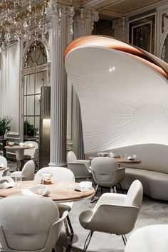Plaza Athénée, Paris #restaurant #interiordesign #laurenmaximovich