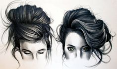 Hair Art Print by kate powell Cool Pencil Drawings, Realistic Drawings, Tumblr Drawings, Art Drawings, Kate Powell, Hair Illustration, Hair Sketch, Love Is In The Air, How To Draw Hair