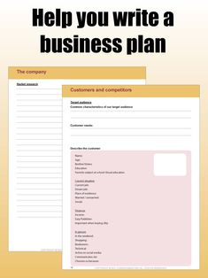 #Make your #company an #instant #succes just like i did So when you go to the #bank you will have a full plan to #show them you are #serious and #deserve to get that #loan. And you will then get that loan and make your #business #ideas and #dreams into a #reality. This #printable #business #plan #helps you to #think of #everything. You just have to #fill in the #blanks. It will ask you about your #competitors, #prices, #market, your #own #company and many more things. #print #printables Writing A Business Plan, Starting A Business, Business Planning, Business Ideas, Printable Planner, Printables, Printable Stickers, How To Make Money, How To Get