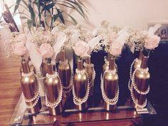 58 Simple But Beautiful Wedding Centerpiece Ideas Using Wine Bottles - VIs-Wed Simple but beautiful wedding centerpieces ideas using wine bottles Great Gatsby Wedding, 1920s Wedding, Our Wedding, Dream Wedding, Trendy Wedding, Glamorous Wedding, Party Mottos, Roaring 20s Party, Roaring 20s Wedding