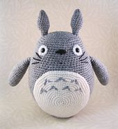 Ravelry: Grey Totoro Amigurumi pattern by Lucy Ravenscar
