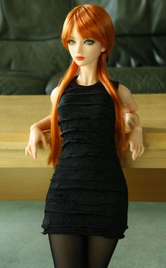 Lounging by worldcitizennow on DeviantArt Beautiful Barbie Dolls, Pretty Dolls, Cute Dolls, Anime Dolls, Blythe Dolls, Gothic Dolls, Smart Doll, Doll Repaint, Ball Jointed Dolls