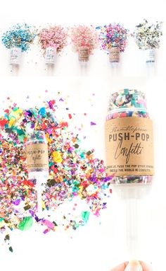 """Kristen Ley of Thimblepress tells the story behind her wedding confetti push pops and how she helps couples """"tell their story in the details"""". Push Pop Confetti, Confetti Poppers, Party Poppers, Push Up Pops, Pop Stick, Custom Balloons, Wedding Confetti, Party In A Box, Wedding Vendors"""
