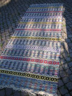Textiles, Loom Weaving, Scandinavian Style, Pattern Design, Bohemian Rug, Rag Rugs, Carpets, Decor, Inspiration