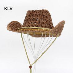 43f824ea7e Clásicos Niños Del Sombrero de Vaquero de Color Caqui Gran Sombrero de Paja  Para Los Hombres
