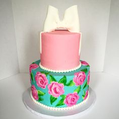 Lily Pulitzer inspired cake lily Pulitzer cake