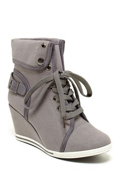 Aviva Wedge Sneaker on HauteLook- To wear tennis shoes comfortably with a dress, I say!