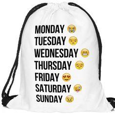 WOPS Emoji Gym Sack Bag Drawstring Drawstring Backpack Sport Bag for Men & Women School Travel Backpack for Teens College Girls Sackpack (Smile Faces) (white words emoji) -- Awesome products selected by Anna Churchill Emoji Backpack, Backpack Bags, Drawstring Backpack, White Backpack, Tween Girl Gifts, Tween Girls, Kids Girls, Men's Backpacks, School Backpacks