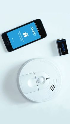 The Roost smart battery goes into your existing smoke detector and alerts you via your phone when your smoke alarm activates. It also  gives you one-touch access to important emergency numbers (police, fire and so on) and notifies you weeks before the battery is low to avoid the chirping.