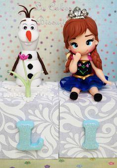 Cubo personalizado Frozen   Lu Cakes Biscuit   Elo7