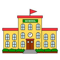 Building Icon, School Building, School Images, School Pictures, Writing Clipart, Back To School Clipart, Book Clip Art, Welcome To School, Classroom Clipart