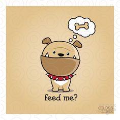 Bulldog pet logo - Feed Me | StockLogos.com