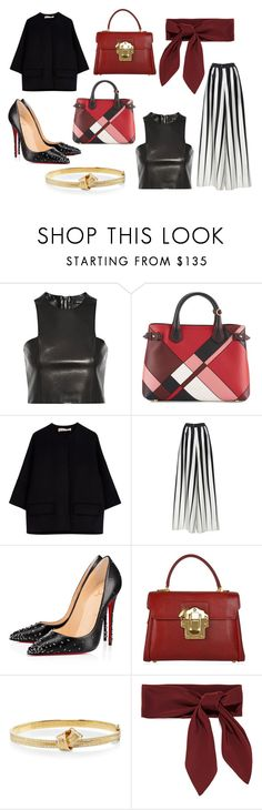 """""""GIVE YOU WHAT YOU LIKE"""" by laura-melissa-cortes on Polyvore featuring moda, Balmain, Burberry, Marni, Tome, Christian Louboutin, Dolce&Gabbana, Carelle y Chloé"""