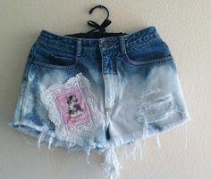 High Waisted Kitty Crochet Shorts by VintageAndUrbanSouls on Etsy, $28.00