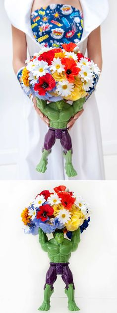 Are you and your fiance comic book crazy? Pack a powerful superhero punch with these fun and colorful ideas from couples that love Superman, the Hulk, and Spider-Man as much as each other.