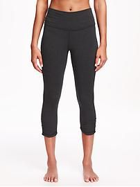 Cinched Yoga Crops for Women