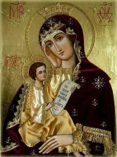 The Virgin Mary with Christ Religious Pictures, Jesus Pictures, Religious Icons, Religious Art, Divine Mother, Blessed Mother Mary, Blessed Virgin Mary, Russian Icons, Russian Art