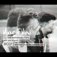 11 years of modern music. We celebrate with @feelmybicep themselves champions of plundering and wandering the vast landscape of the art. #MakeItNew  RSVP to the link in our bio!  #music #art #technology #boston #cambma #cambridge #centralsquare #community #sound #sweaty #dark #nightclub #nightlife #dj #djing #djs #production #synthesis #synths #techno #house #future #london #blogging by mmmmaven August 12 2015 at 03:31PM