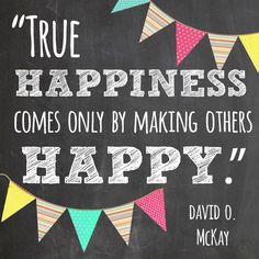 True Happiness Quote *Free Printable
