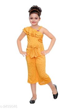 Jumpsuits Stunning Kid's Girl's Jumpsuit Fabric: Polyester Blend Sleeves: Sleeves Are Not Included Size:Age Group (18 Months - 24 Months) - 20 in Age Group (2 - 3 Years) - 22 in Age Group (3 - 4 Years) - 24 in Age Group (4 - 5 Years) - 26 in Age Group (5 - 6 Years) - 28 in Age Group (6 - 7 Years) - 30 in Type:Stitched  Description:It Has 1 Piece of Kid's Girl's Jumpsuit Work: Printed Sizes Available: 2-3 Years, 3-4 Years, 4-5 Years, 5-6 Years, 6-7 Years, 7-8 Years, 8-9 Years *Proof of Safe Delivery! Click to know on Safety Standards of Delivery Partners- https://ltl.sh/y_nZrAV3  Catalog Rating: ★4.1 (2101)  Catalog Name: Stunning Kid's Girl's Jumpsuits Vol 3 CatalogID_327004 C62-SC1156 Code: 992-2439546-