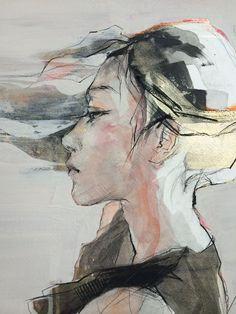 "clisawork: "" Painting by Izumi Kogahara. h/t Less Talk More Illustration. Watercolor Portraits, Abstract Watercolor, Figure Painting, Painting & Drawing, Fine Art Drawing, Art Et Illustration, Abstract Painters, Portrait Art, Figurative Art"