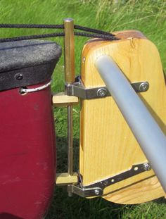 How to fit a Solway Dory stern mounted rudder to a plastic open canoe.