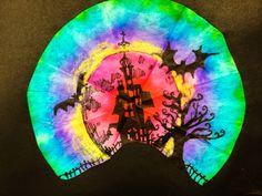 smART Class: Got Coffee Filters? Beautiful (super easy) Spooky Silhouette