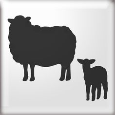 silhouette of sheep - Google Search