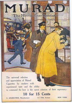 Murad Cigarettes, 1910